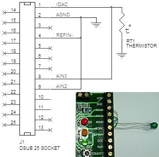 thermistor schematic USB DAQ