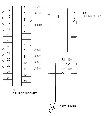 thermocouple schematic USB DAQ